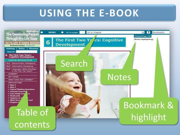 USING THE E-BOOK