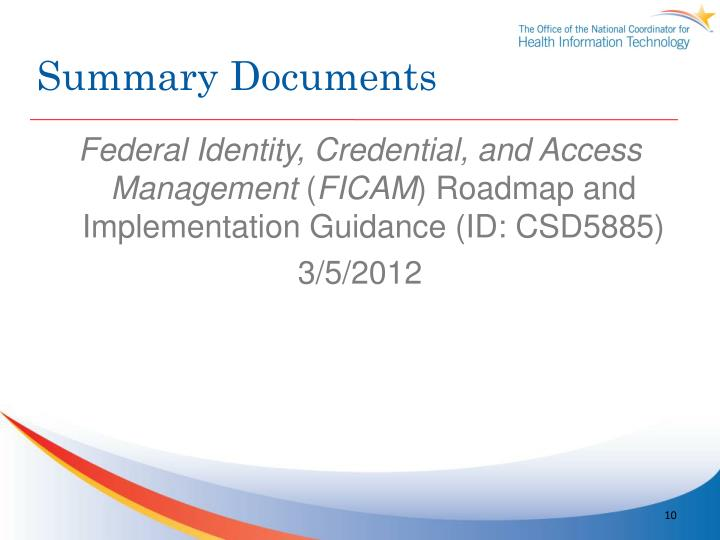 Summary Documents
