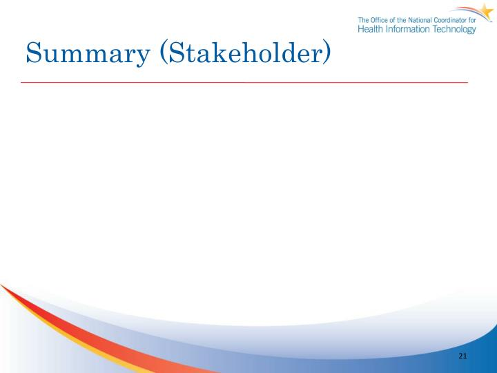 Summary (Stakeholder)