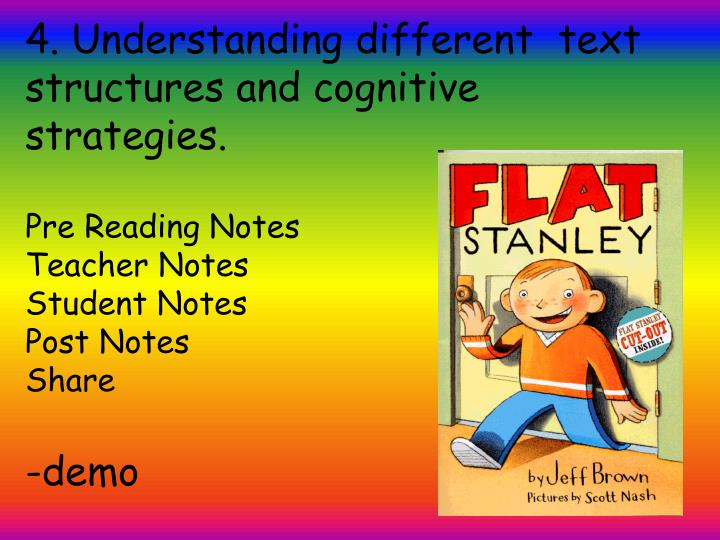 4. Understanding different  text  structures and cognitive strategies
