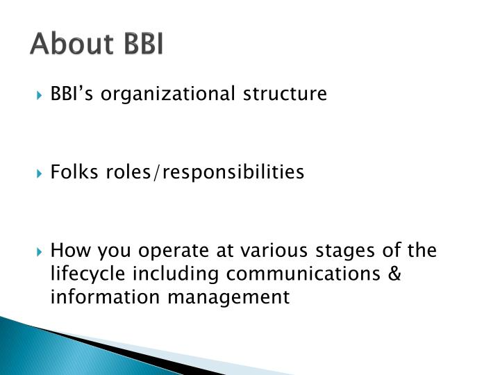 About BBI