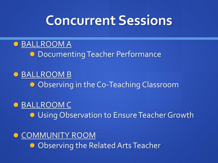 Concurrent Sessions