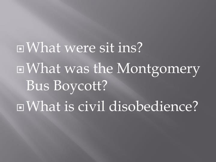 What were sit ins?