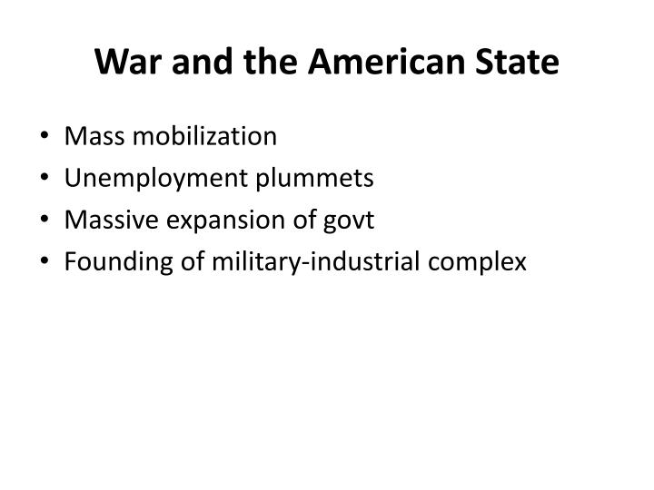 War and the American State