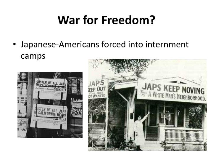 War for Freedom?