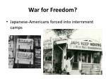 war for freedom