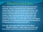 observing labs
