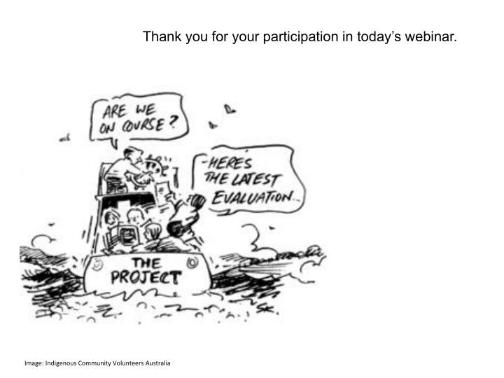 Thank you for your participation in today's webinar.