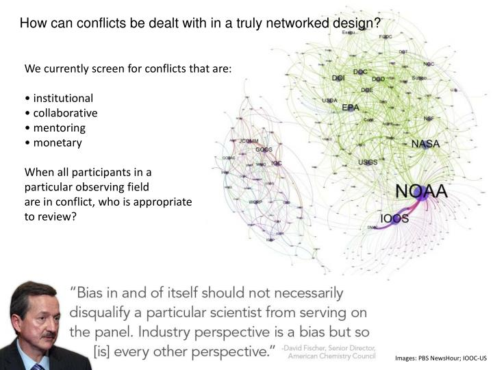 How can conflicts be dealt with in a truly networked design?