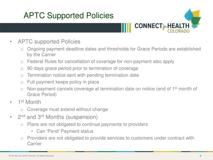 APTC Supported Policies