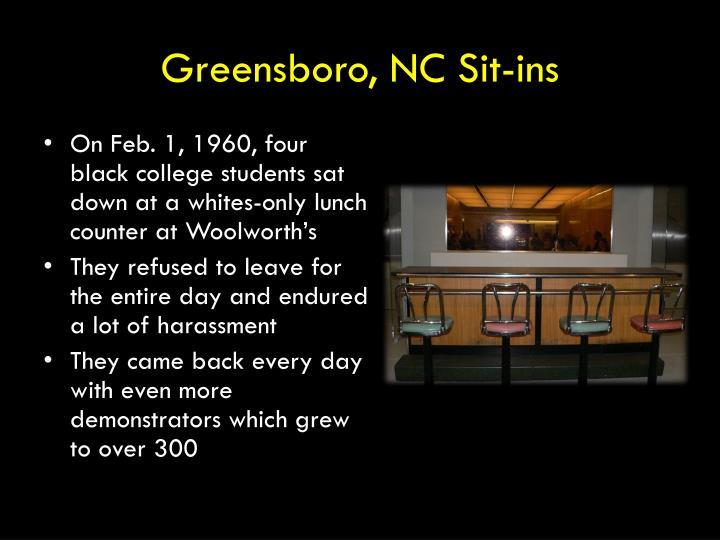 Greensboro, NC Sit-ins