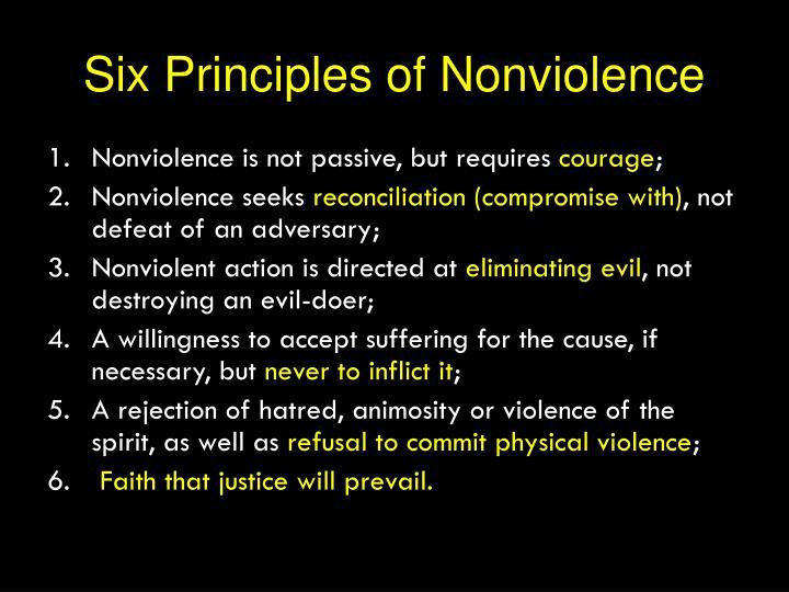 Six Principles of Nonviolence