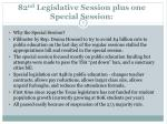 82 nd legislative session plus one special session1