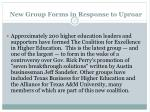 new group forms in response to uproar