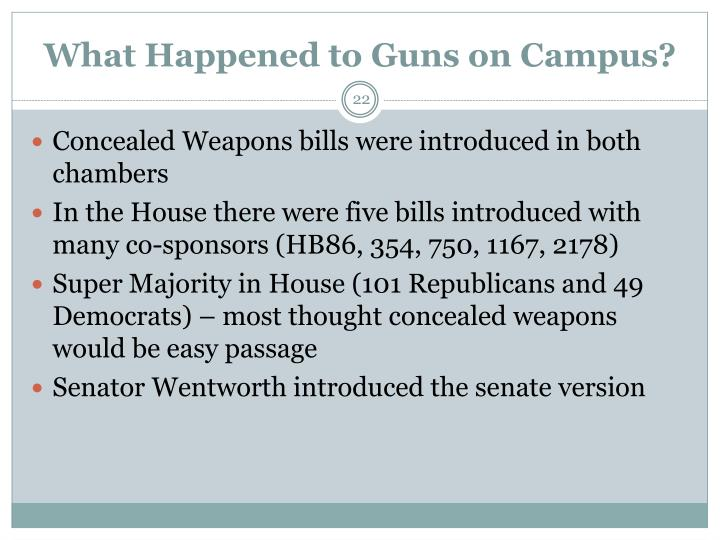 What Happened to Guns on Campus?