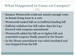 what happened to guns on campus1