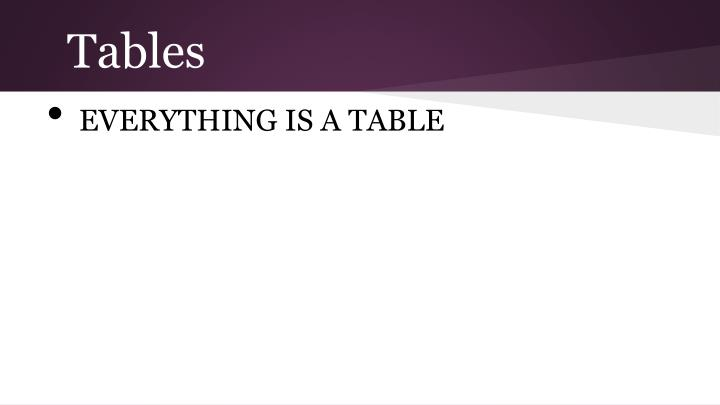Tables