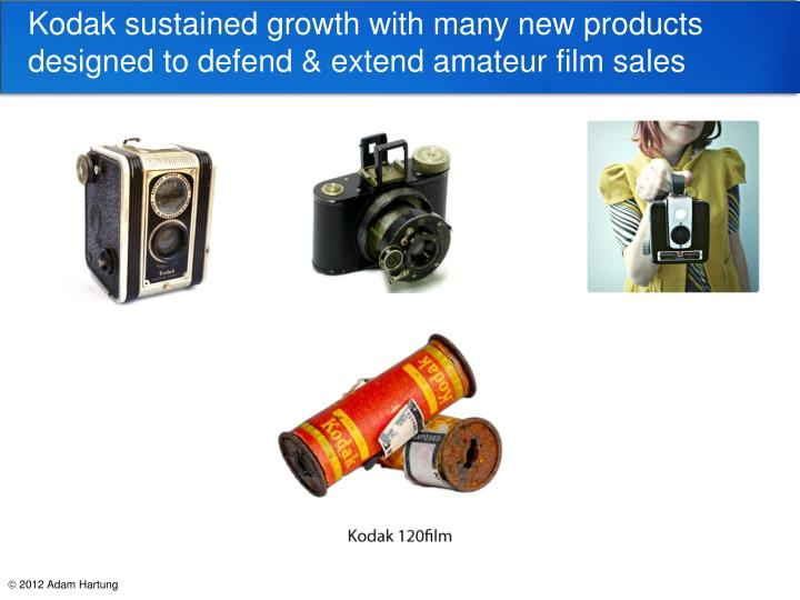 Kodak sustained growth with many new products designed to defend & extend