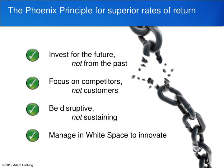 The Phoenix Principle for superior rates of return
