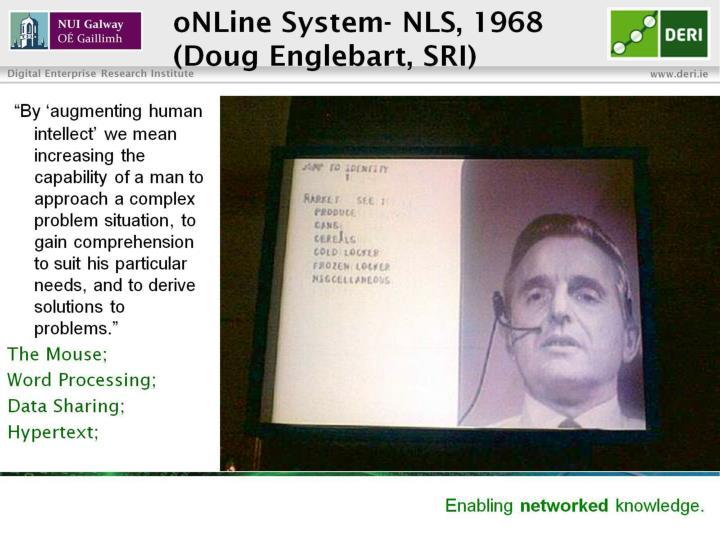 oNLine System- NLS, 1968
