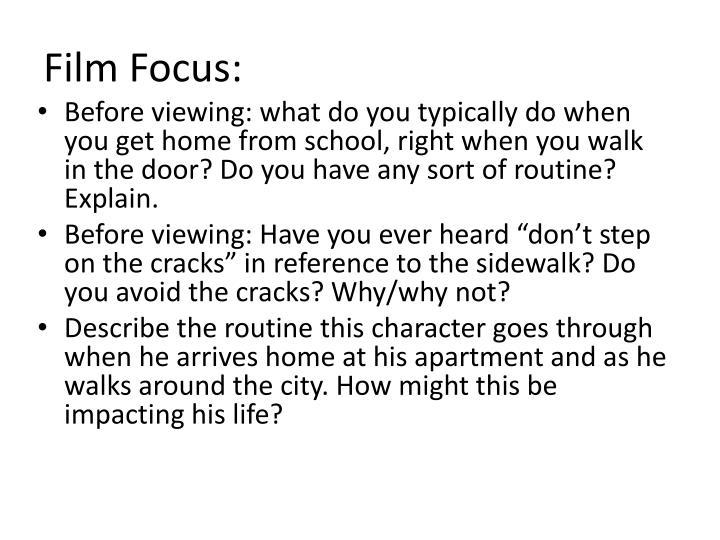 Film Focus:
