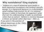 why nonviolence king explains