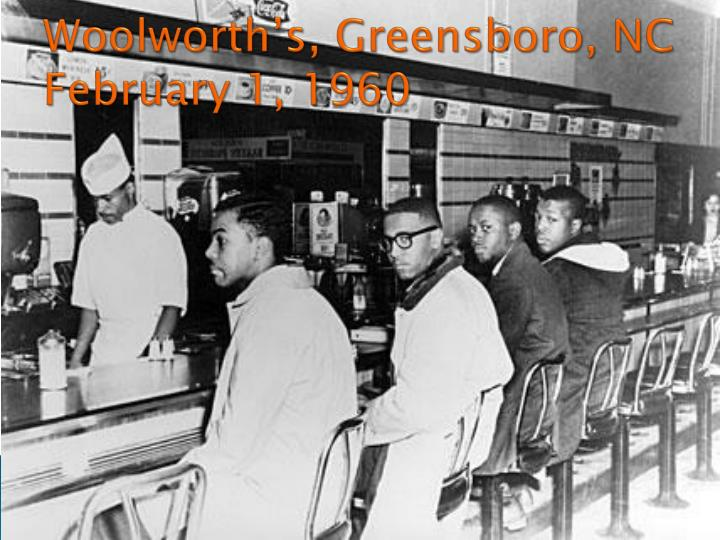 Woolworth's, Greensboro, NC February 1, 1960