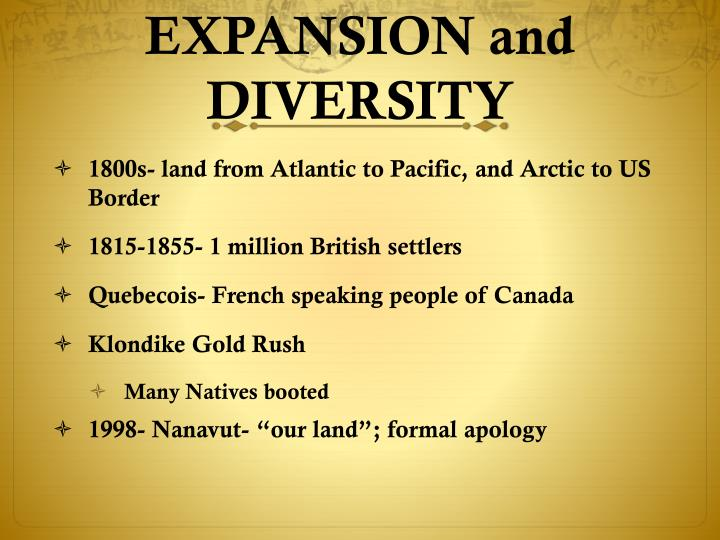 EXPANSION and DIVERSITY
