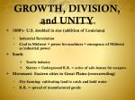 growth division and unity