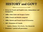 history and govt