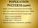 population patterns cont