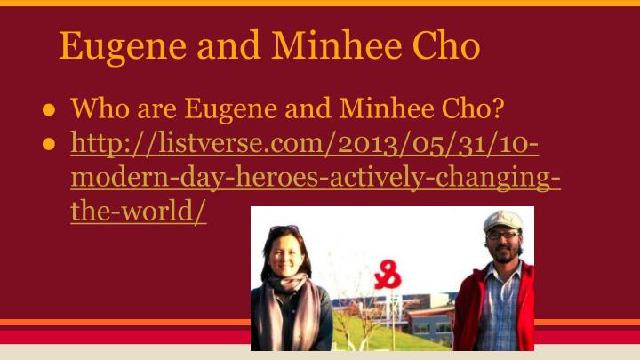 Eugene and Minhee Cho