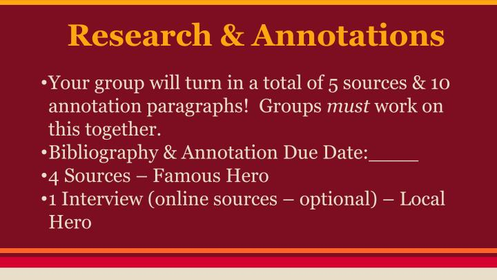 Research & Annotations