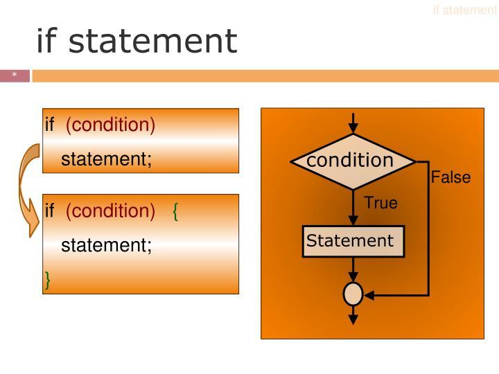 if statement