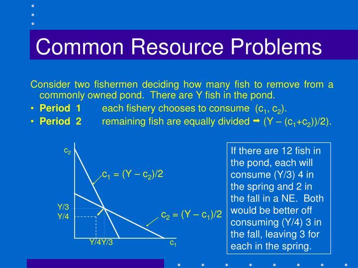 Common Resource Problems