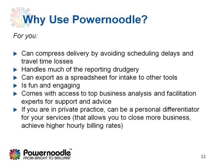 Why Use Powernoodle?