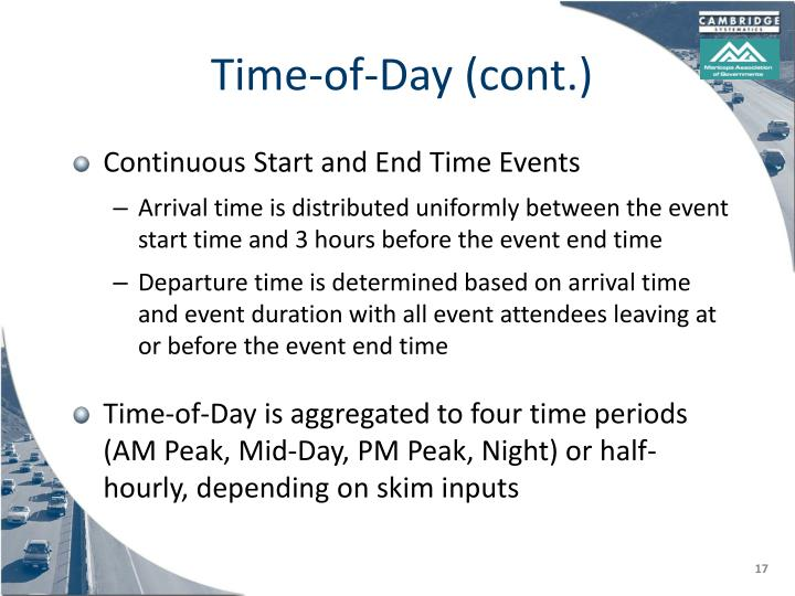 Time-of-Day (cont.)