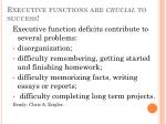 executive functions are crucial to success