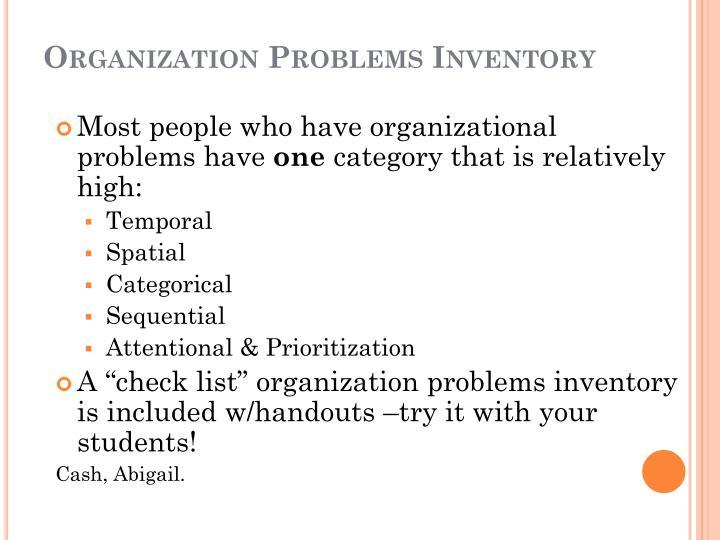Organization Problems Inventory
