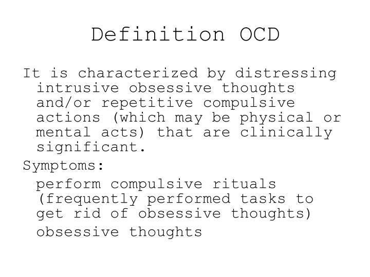 Definition OCD