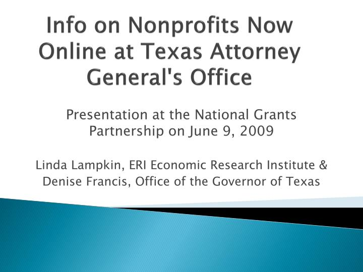 info on nonprofits now online at texas attorney general s office