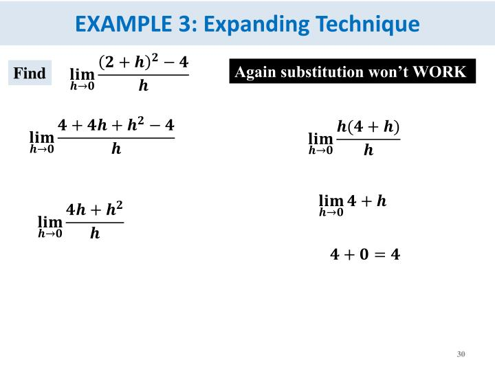 EXAMPLE 3: Expanding