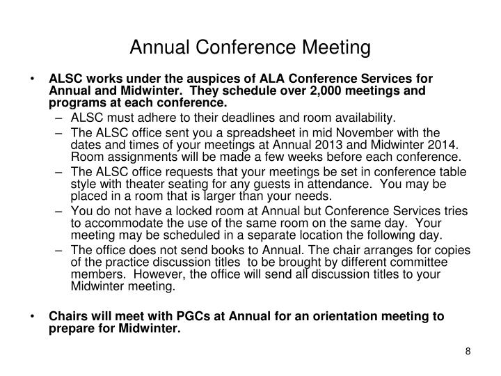 Annual Conference Meeting