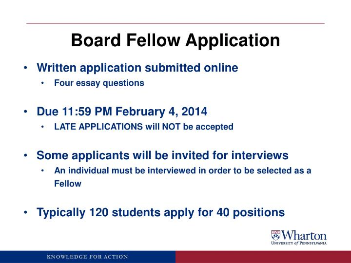 Board Fellow Application