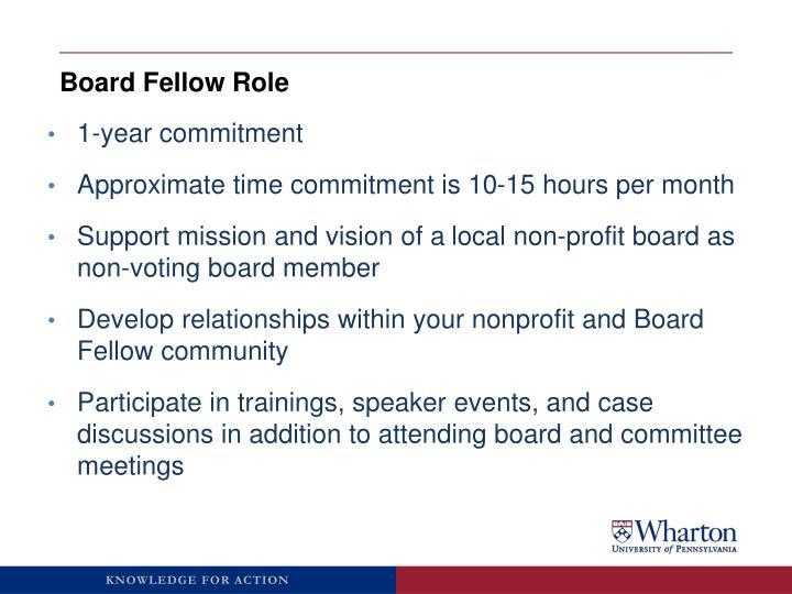 Board Fellow Role