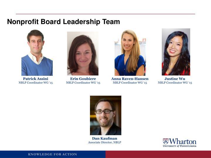 Nonprofit Board Leadership Team
