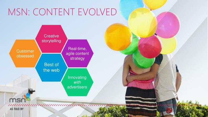 MSN: CONTENT EVOLVED