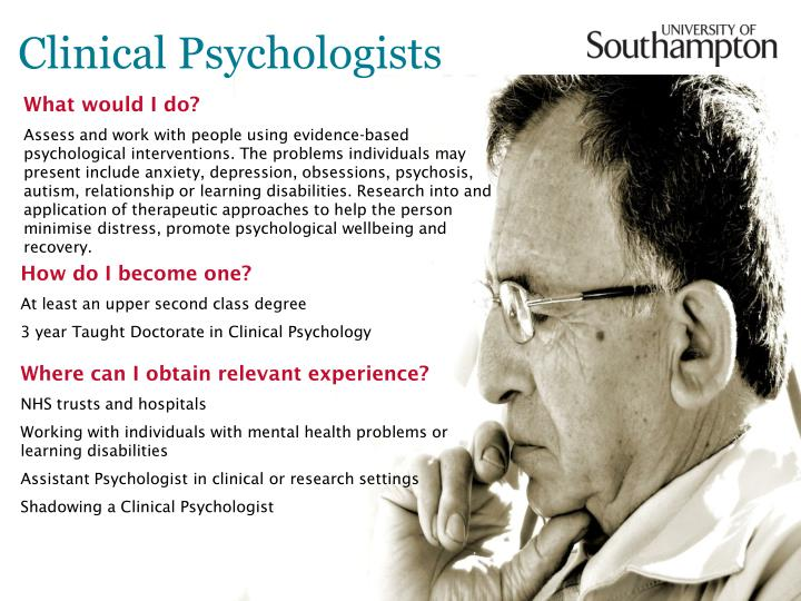 Clinical psychologists