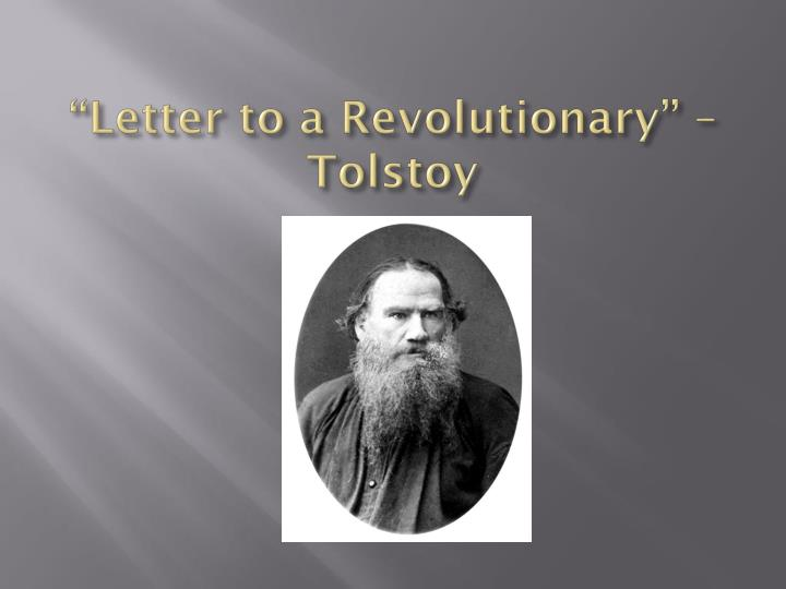 """""""Letter to a Revolutionary"""" – Tolstoy"""