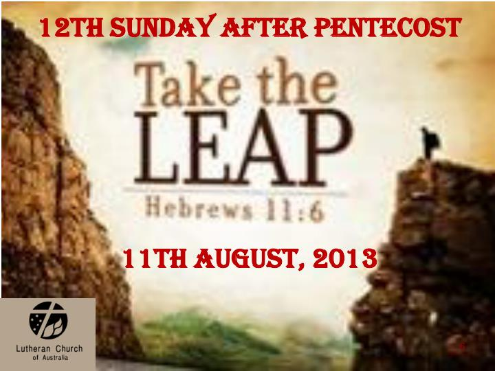 12th Sunday after